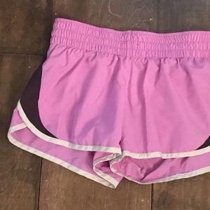 womens nike dri fit athletic shorts pink black